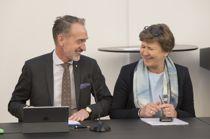 Forhandlingsleder i KS Tor Arne Gangsø, og Fagforbundets leder Mette Nord. Foto: Vidar Ruud / NTB scanpix