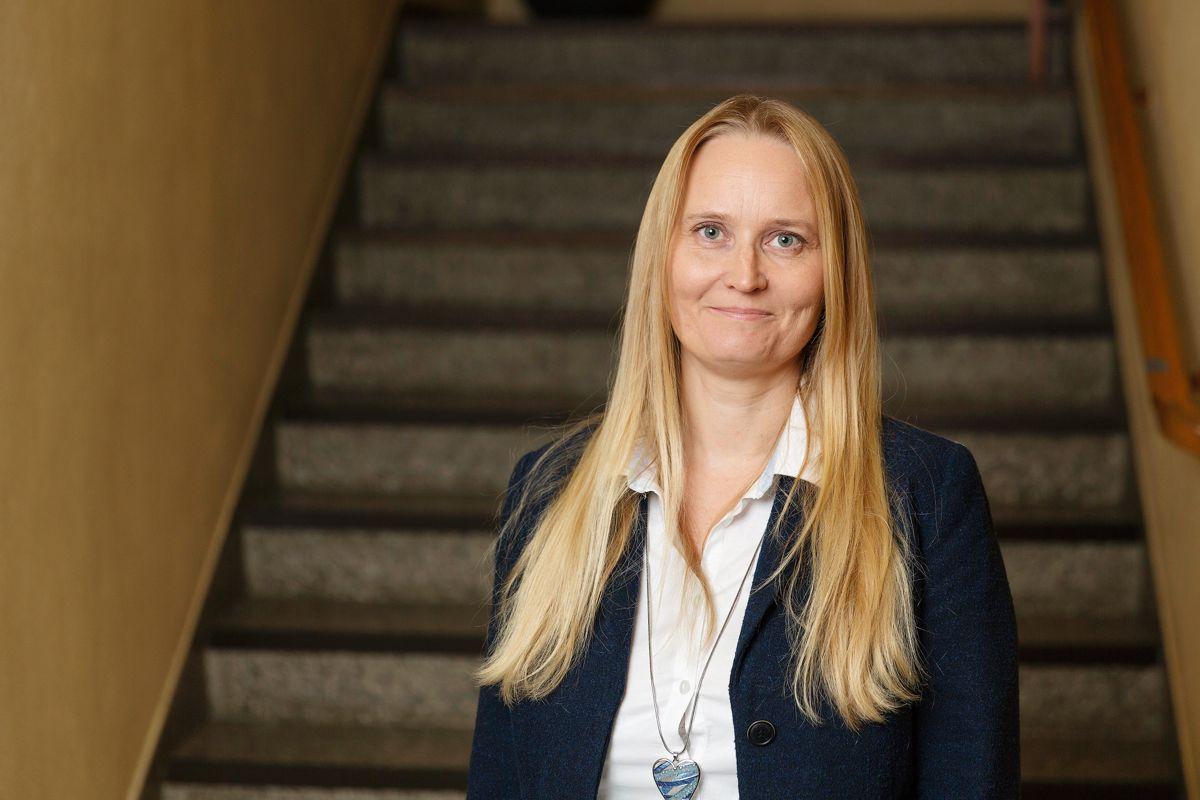 Malin Westby Skoglund, økonomisjef i Kongsvinger kommune, ønsker at alle fremtidige byggeprosjekter i kommunen skal bygges miljøvennlig der det er mulig. FOTO: Jo Straube