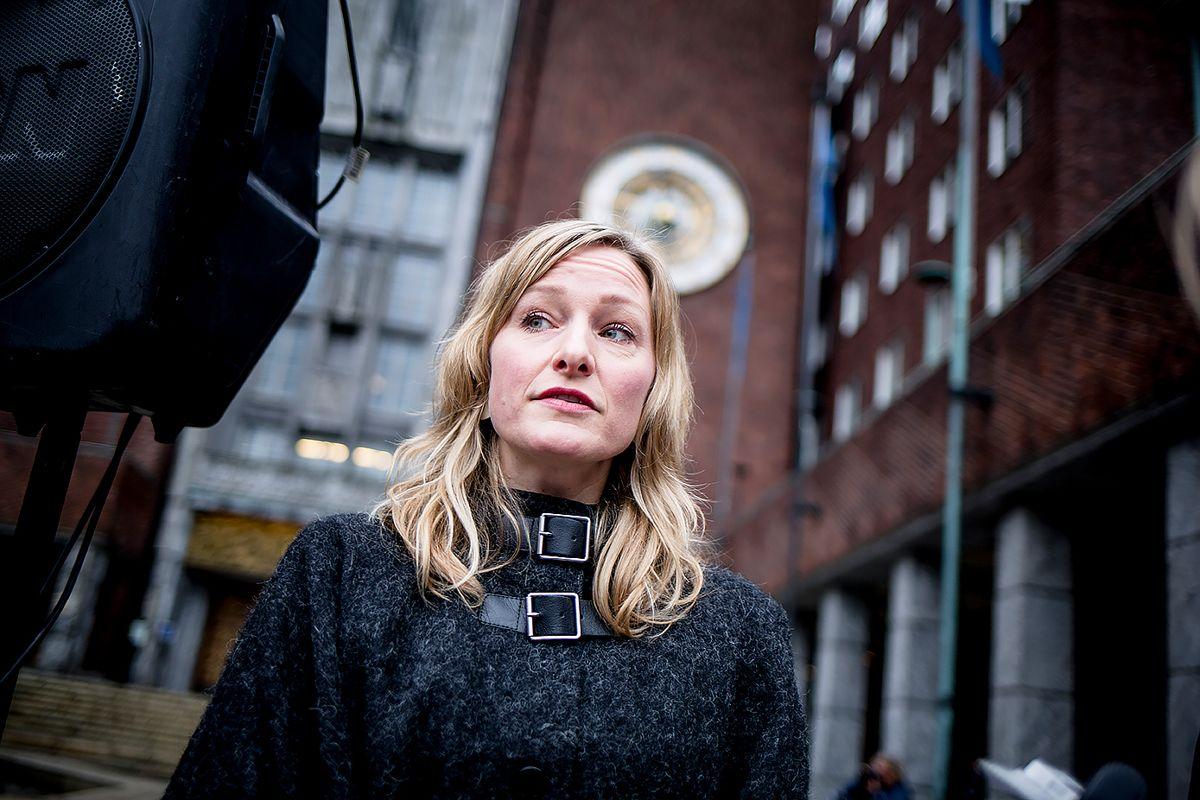 – Forholdene som er avdekket er av alvorlig karakter og noe vi i SV og fagbevegelsen har mistenkt over lengre tid, sier Oslo-byråd Inga Marte Thorkildsen (SV). Foto: Magnus Knutsen Bjørke