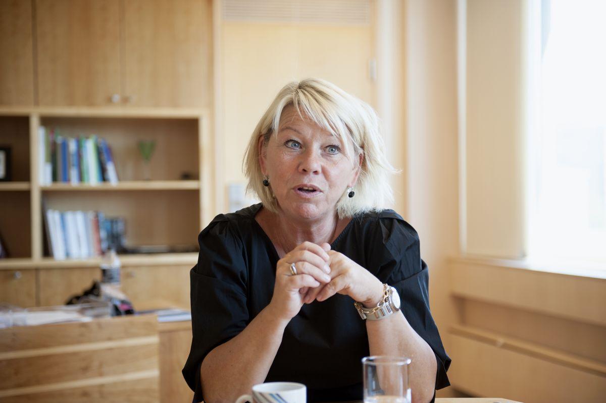 Kommunalminister Monica Mæland (H) setter i gang gransking av Tolga kommune. Foto: Terje Lien