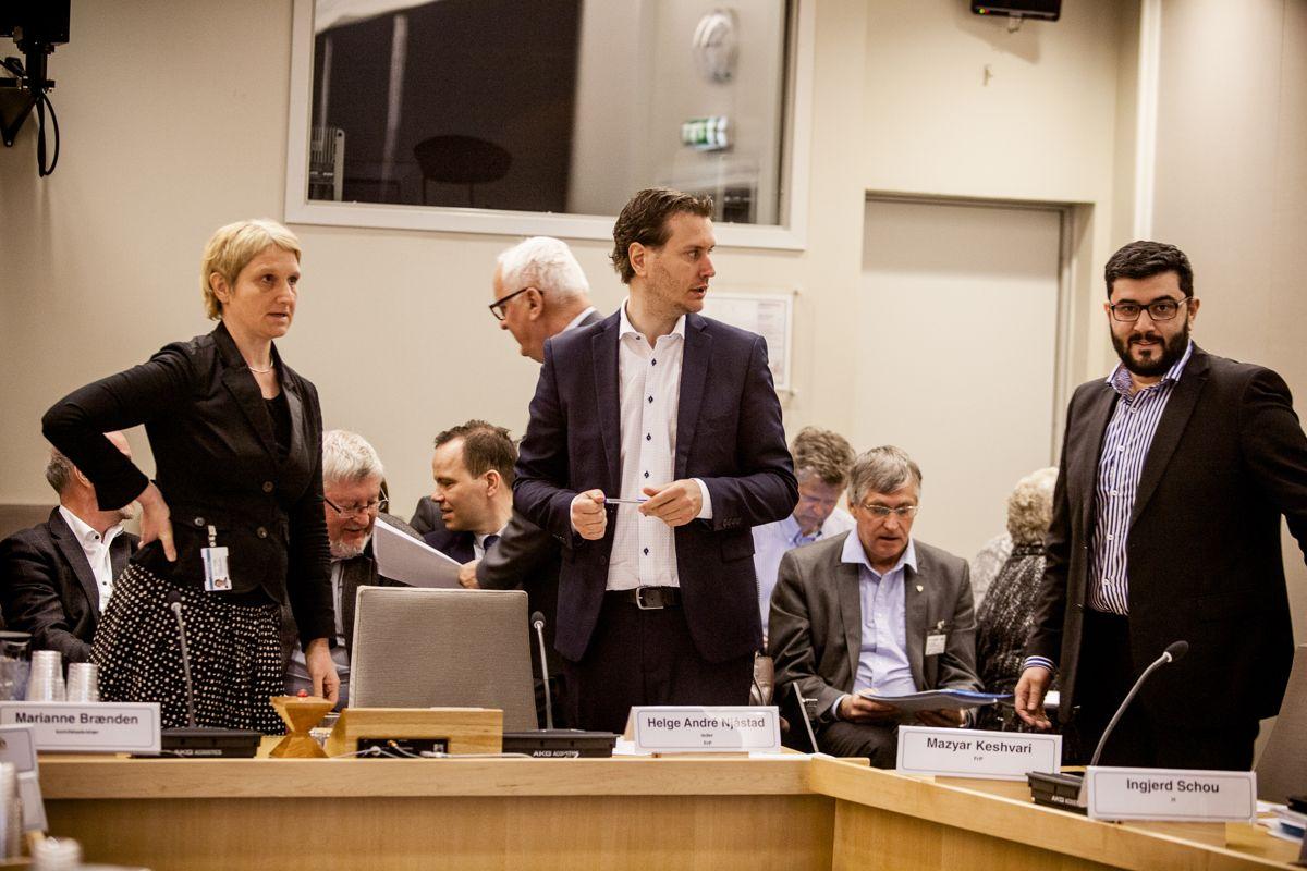 Helge André Njåstad (Frp) har ledet kommunalkomiteen de siste fire årene. Her på en av komiteens høringer. Arkivfoto: Magnus Knutsen Bjørke