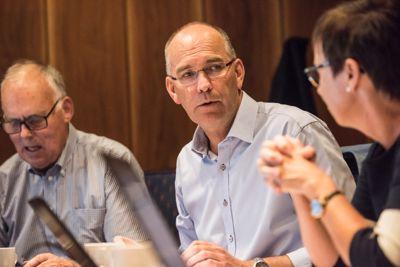 Grimstad-ordfører Kjetil Glimsdal (KrF). Foto: Lisa Rypeng