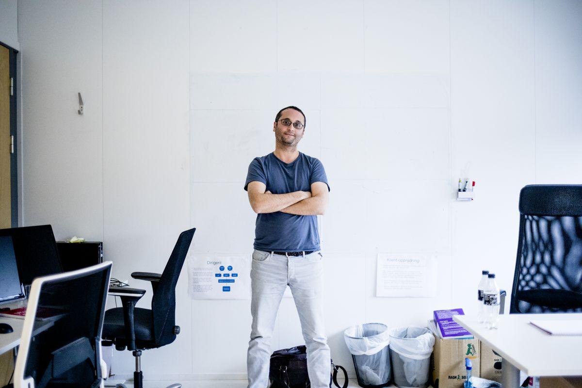 Ali Elmasoudi har tro på PC-lærere med kunstig intelligens. Foto: Magnus Knutsen Bjørke