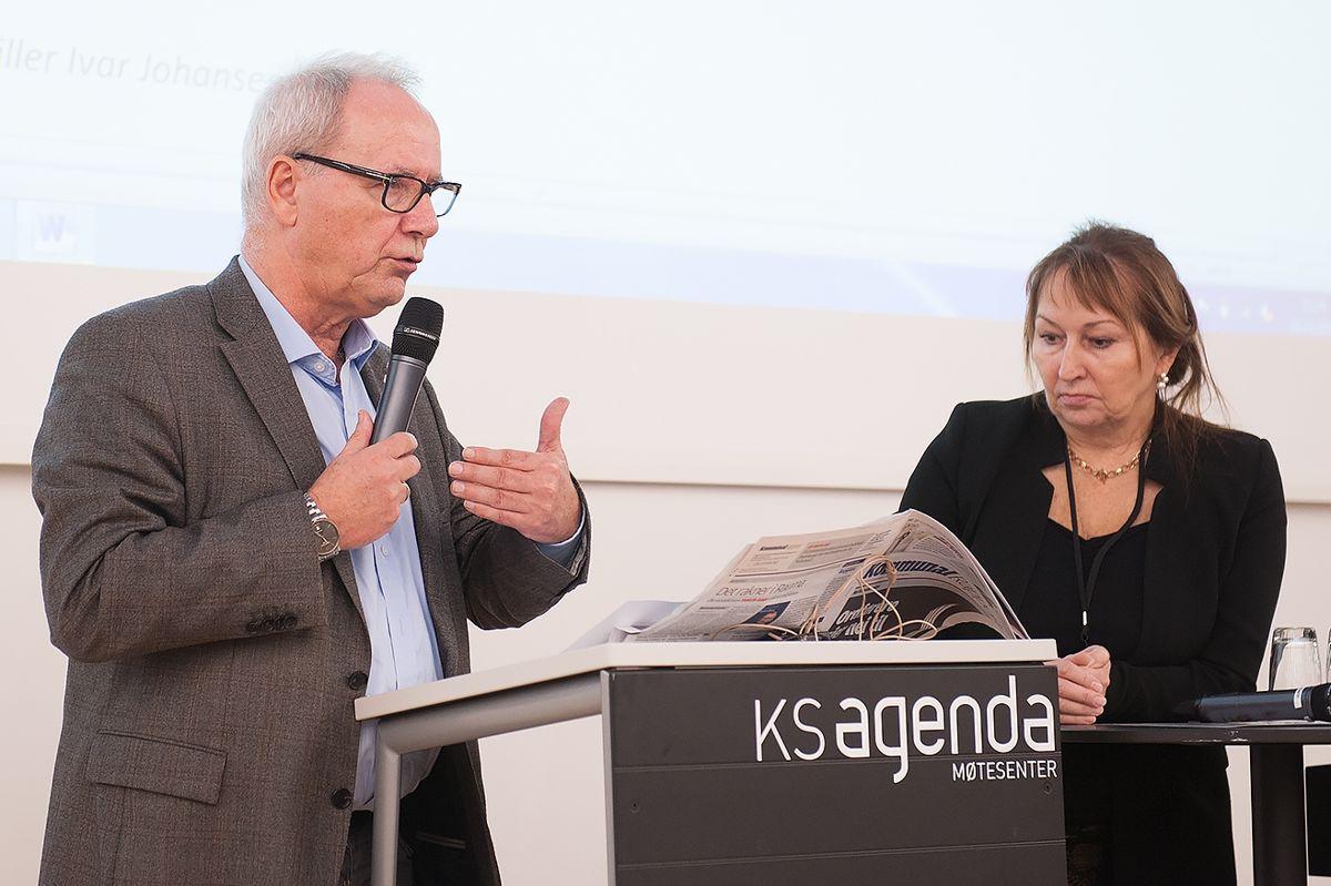 Ivar Johansen (SV) foreslo at KS' hovedstyre skulle avvise nye straffereaksjoner for brudd på taushetsplikten, men forslaget falt med KS-leder Gunn Marit Helgesens (H) dobbeltstemme. Foto: Terje Lien