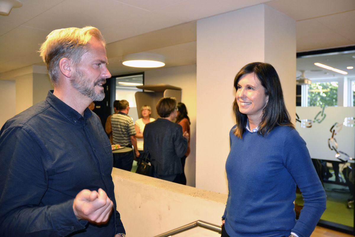 Daglig leder i Framsikt Halvor Walla og økonomidirektør Kristin Ulvang i Bergen kommune er begge opptatt av at økonomiplanene skal forstås av alle.