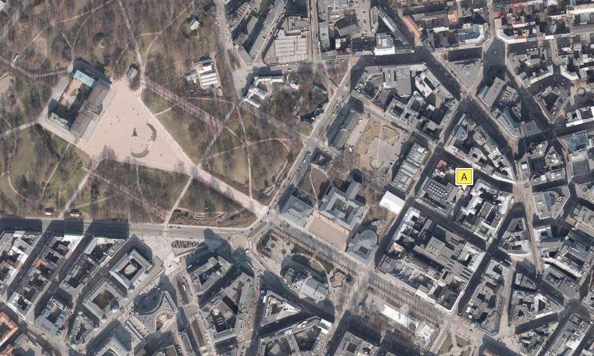 Eierskapsbyråd Geir Lippestad (Ap) eier en eiendom verd 23,5 millioner kroner bare et par steinkast fra Slottet og Oslo rådhus. Kart kilde: www.1881.no, © 2016 Norkart AS/Plan- og bygningsetaten, Oslo kommune