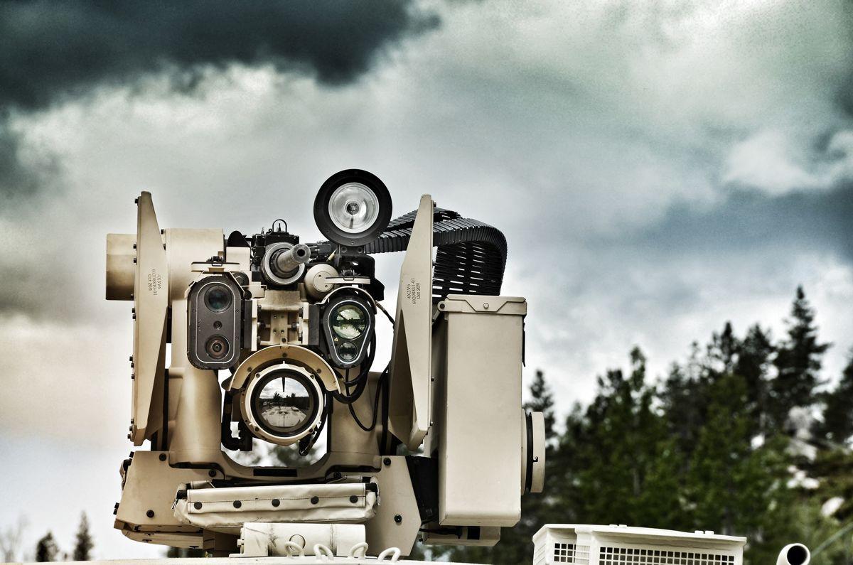 Et av produktene fra Kongsberg Gruppen - en KPS Protector Remote Weapon Station Nordic. Foto: Kongsberg Gruppen