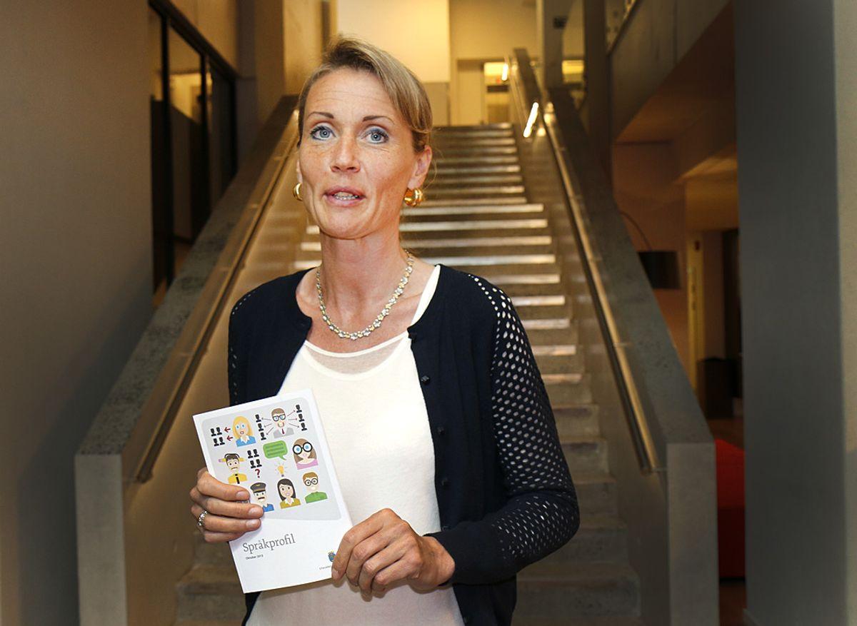 Stavanger er godt i gang med sitt klarspråkprosjekt. Kommunikasjonsrådgiver Kristin Høie Walstad er prosjektleder. (Foto: Tone Holmquist)