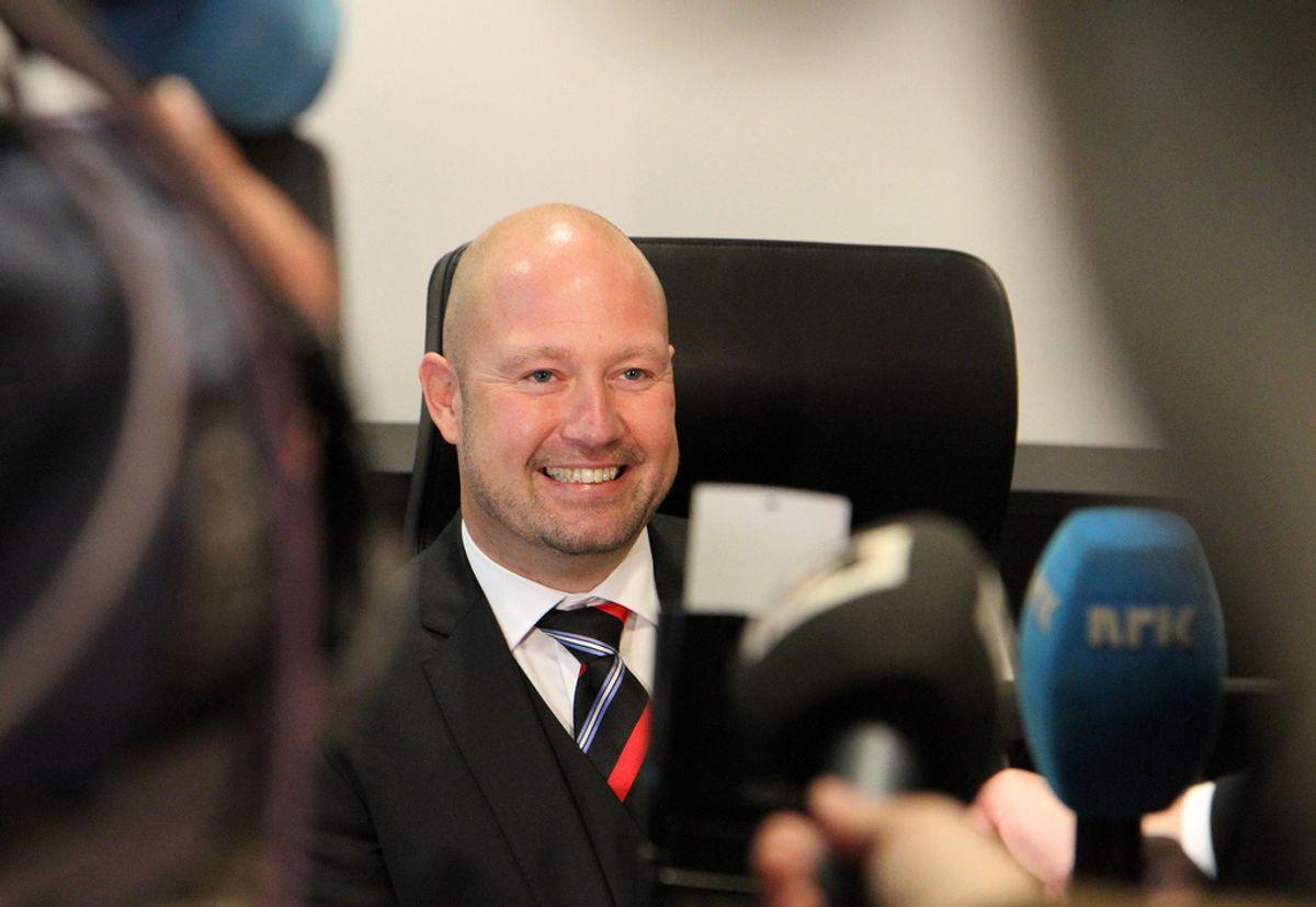 Justisminister Anders Anundsen (Frp) utfordres av presseorganisasjonene til åpenhet om evalueringen av offentlighetsloven. Foto: Justisdepartementet