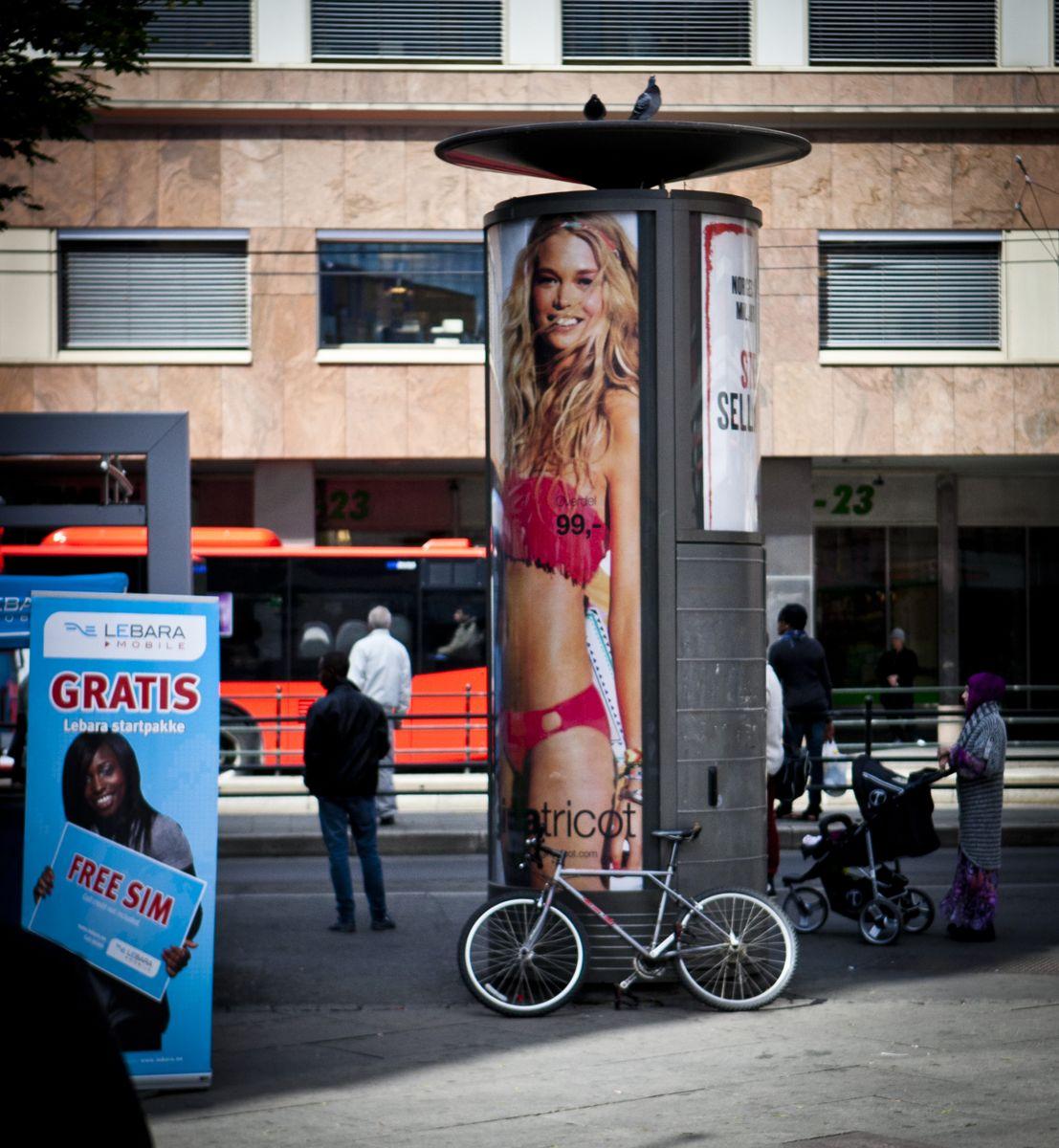 Protester fra innbyggerne førte til at Oslo bystyre gikk i forhandlinger for å få avsluttet avtalen om reklametårn. Foto: Magnus K. Bjørke