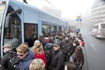 Byråd for miljø og samferdsel i Oslo, Arild Hermstad (MDG), frykter en krise i hovedstadens kollektivtransport hvis alle innbyggerne begynner å dra på jobb igjen samtidig.Foto: Patrick da Silva Sæther