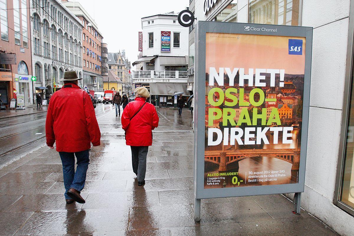 Reklamen i Grensen er forbudt i henhold til kommunens reglement.
