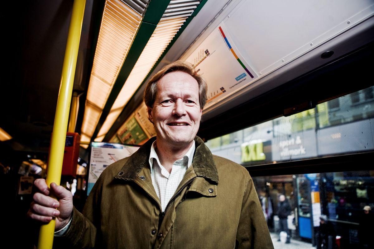 Styreleder Cato Hellesjø i Sporveis-Annonsene sier at de digitale skjermene vil gi store ekstrainntekter. Foto: Julia Jonette Fjellheim, Scanpix