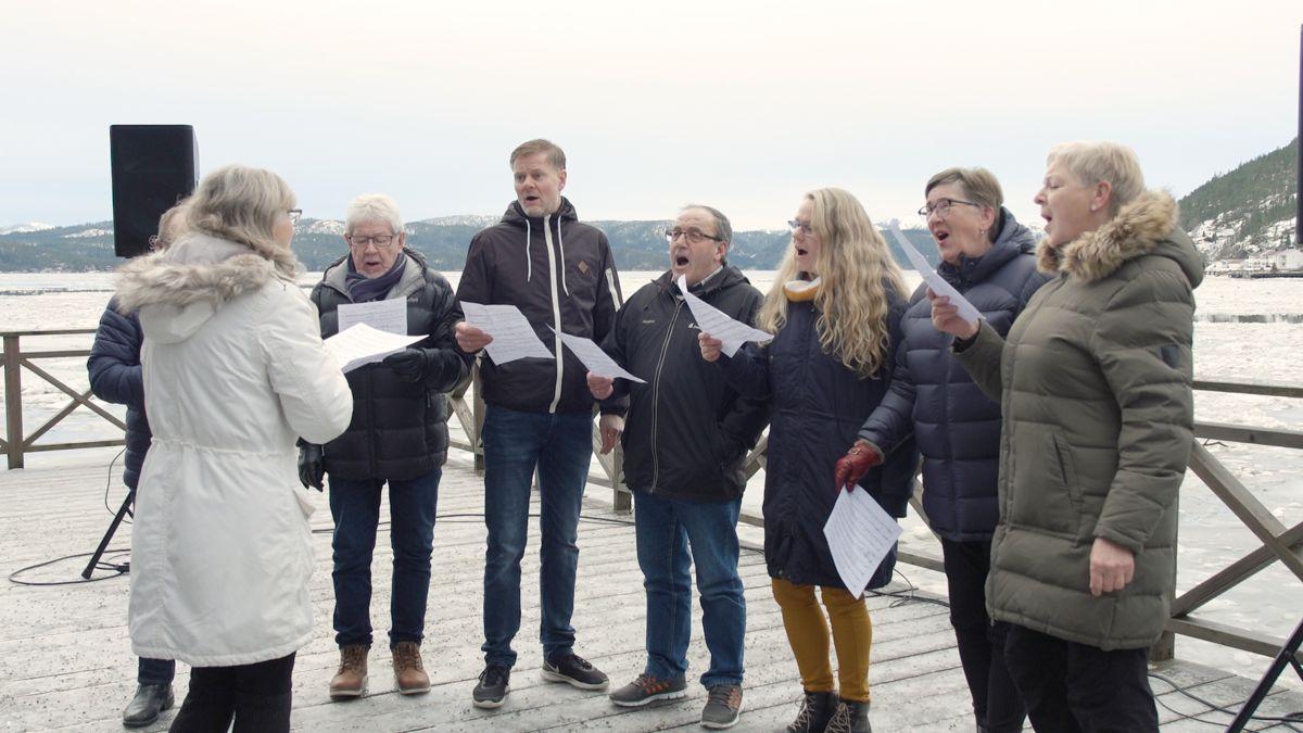 Dette koret har en liten rolle i den ferske musikkvideoen fra nye Namsos kommune.