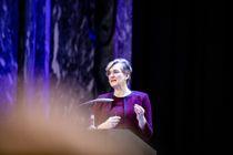 Direktør Ellen Hambro i Miljødirektoratet presenterte rapporten Klimakur 2030 i Oslo i formiddag. Den forteller hvordan klimautslippene kan reduseres fram mot 2030. Foto: Magnus K. Bjørke