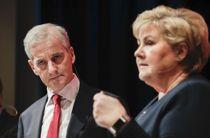 Arbeiderpartiets leder Jonas Gahr Støre er fornøyd med at Erna Solbergs (H) regjering dropper en stor omlegging av kraftskatten, men påpeker at problemet med investeringstørke ikke er løst. Foto: Vidar Ruud, NTB scanpix