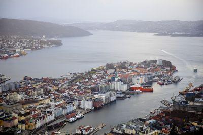 I fjor ble Bergen, her sett fra Ulriken, kåret til Norges mest attraktive by. Foto: Magnus K. Bjørke