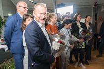 Oslo skiller seg ut med høye godtgjørelser, skriver Kjell Harvold. Byrådsleder Raymond Johansen (Ap) får 1.410.000 kroner. Her fotografert da den nye byrådsplattformen ble lagt fram etter valget. Foto:  Håkon Mosvold Larsen, NTB scanpix