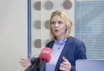 <p>Sylvi Listhaug er forhandlingsleder for Frp i dragkampen om statsbudsjettet for 2021. Bildet er tatt ved en tidligere anledning.</p>