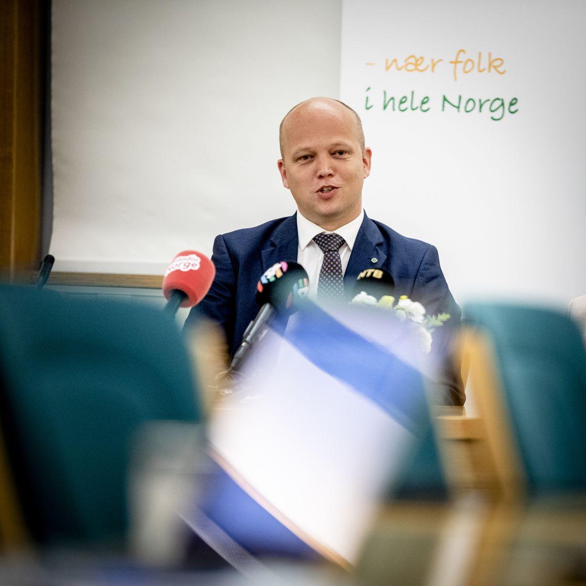 Senterpartiet utpekte Trygve Slagsvold Vedum til statsministerkandidat på sitt digitale landsmøte i helga. Bildet er fra før pandemien.