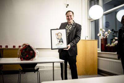 Alfred Bjørlo (V), nå ordfører i Stad kommune, mottok prisen som Årets kommuneprofil 2019.