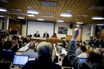 <p>Kommunestyrene kan ikke møtes fysisk under koronakrisen. Her fra et møte i Indre Fosen i fjor.</p>