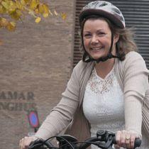 Hamar kommune, elbil, klima, miljørådgiver Lise Urset Foto: Terje Lien