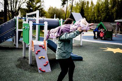 Regjeringen åpner for grønt nivå i barnehager og skoler. Her fra Eventyrstua barnehage i Lørenskog.