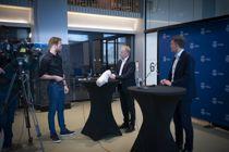 <p>Byrådsleder Raymond Johansen (Ap) og finansbyråd Einar Wilhelmsen (MDG) la fram revidert budsjett for Oslo tirsdag ettermiddag.</p>