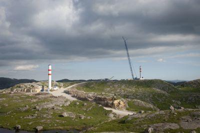 Her bygges det omstridte Vardafjellet vindkraftverk i Rogaland.