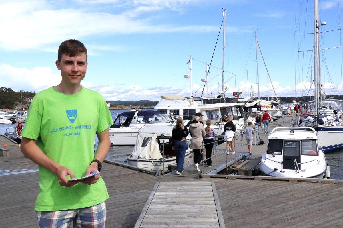 Sommeren 2020 hadde Herman Grytnes sommerjobb som koronavert på Skjærhalden iHvaler.