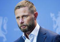 <i>Pressekonferanse om koronasituasjonen</i> Oslo 20200807. Helse- og omsorgsminister Bent Høie under en pressekonferanse om koronasituasjonen.
