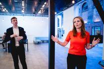 <p>Høyres programkomités leder, Linda Hofstad Helleland, og nestleder Henrik Asheim presenterte førsteutkast til nytt stortingsvalgprogram på OsloMet mandag.</p>