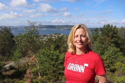 Christine Ødegaard har vært aktiv i nærmiljøet, men nå er hun politiker i bergenspolitikken. – Jeg liker å være involvert i de politiske prosessene, sier hun.