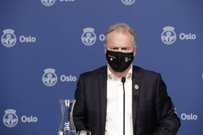 Byrådsleder Raymond Johansen orienterer om koronasituasjonen i Oslo