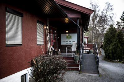 Sykehjemmet Villa Skaar i Eidsvoll er hardt rammet.