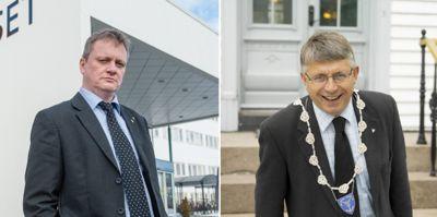 Fylkesordfører Arne Thomassen (H) i Agder (t.h.) er mest fornøyd, mens fylkesordfører Ivar B. Prestbakmo (Sp) i Troms og Finnmark er mest misfornøyd. Men de fleste ordførerne i nye kommuner/fylkeskommuner er sånn passe fornøyde snaut år etter kommune- og regionreformen, viser Kommunal Rapports undersøkelse.