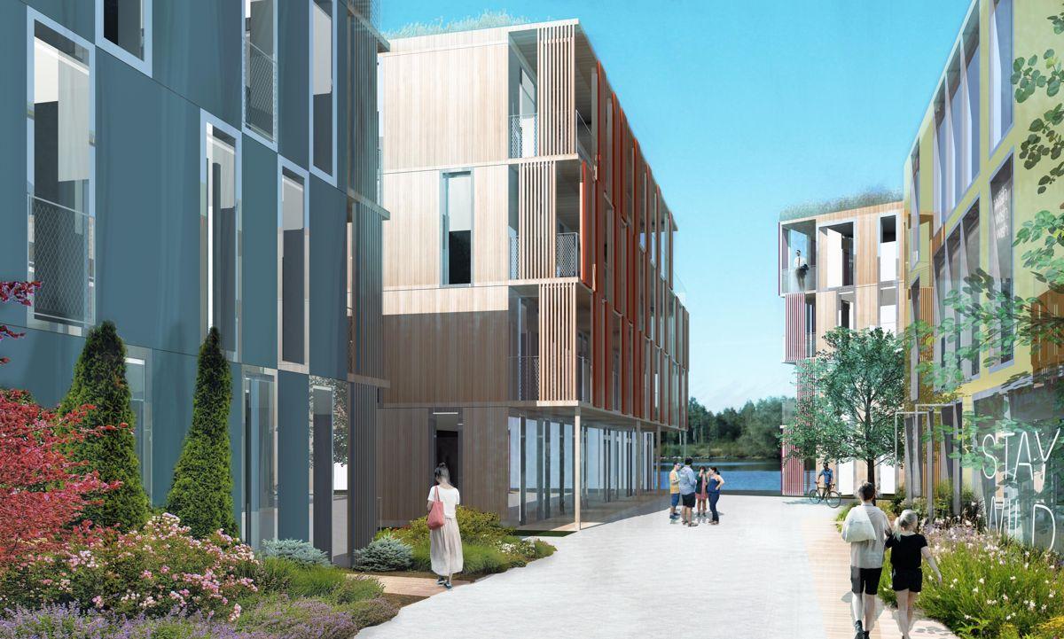 Slik skal den nye bydelen Fredrikshald Brygge i Halden se ut, ifølge planforslaget fra Condovita AS.