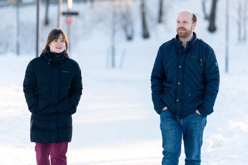 Innkjøpsrådgiver Ine Høyer og innkjøpssjef Carl Henriksen i Lillestrøm kommune. Foto: Per-Christian Lind