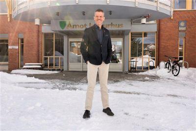 I Åmot kommune kan nyansatt kommunedirektør Stein Halvorsen glede seg over at kommunen har fått positive tall i disposisjonsfondet.