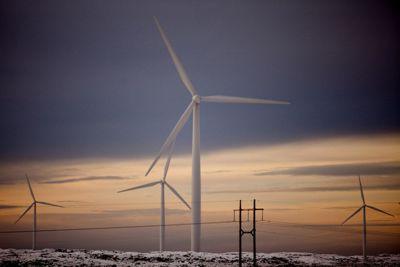 Gjesdal kommune vil ha ny støyberegning for Måkaknuten vindkraftverk og en helsekonsekvensutredning. Dette bildet er hentet fra et annet vindkraftverk.