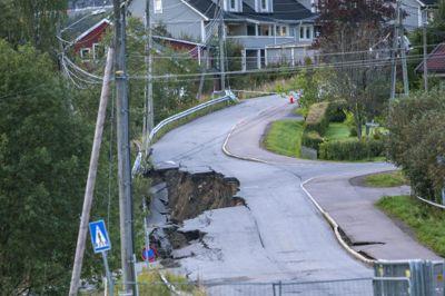 Over 60 beboere ble evakuert etter raset på Li i Nittedal.