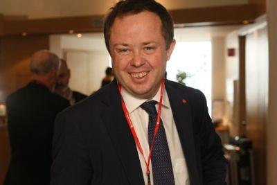 Robin Kåss, ordfører i Porsgrunn. Bildet er tatt under Arbeiderpartiets ordførerkonferanse i 2017.