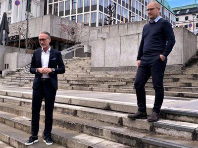 Fortsatt stor avstand mellom forhandlingsleder Tor Arne Gangsø i KS og forhandlingsleder Steffen Handal i Unio kommune. Partene møtes til nye forhandlinger i neste uke.