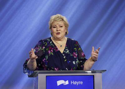 Statsminister Erna Solberg løftet fram ungdomsskolereformen i sin tale på Høyres digitale landsmøte i helga.