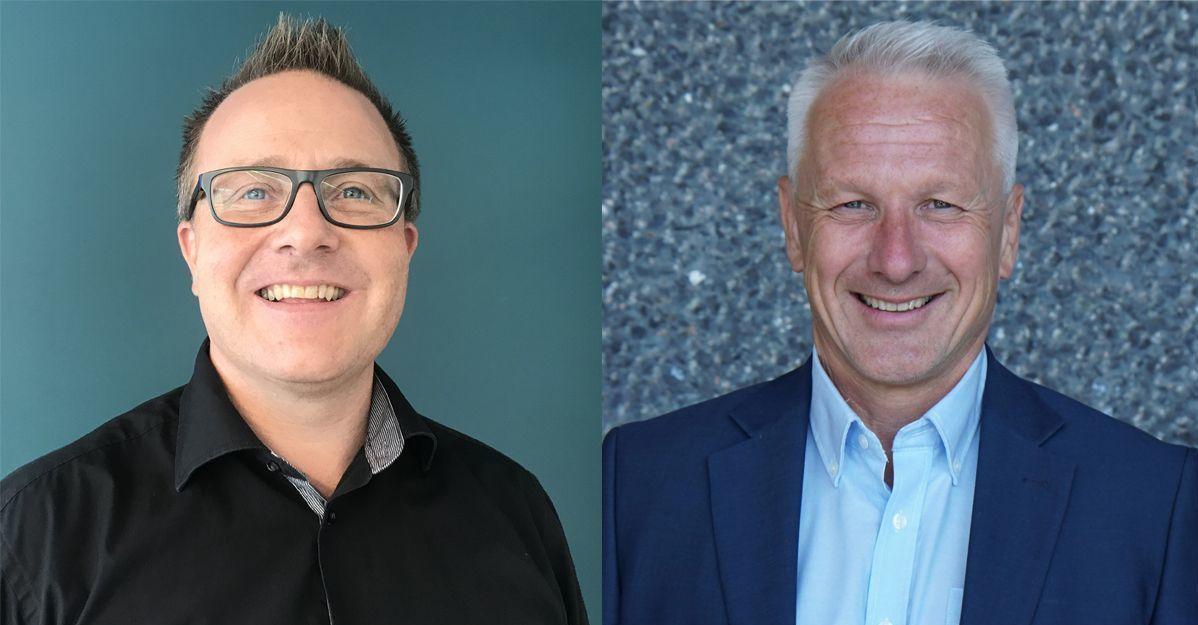 Fra venstre: Geir Graff og Lars Bjerke. Graff forteller hvordan standarder kan fungere som et samlingspunkt og en kjerne i bærekraftsarbeidet.