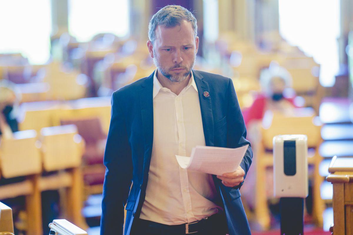 Audun Lysbakken (SV) i Stortinget.