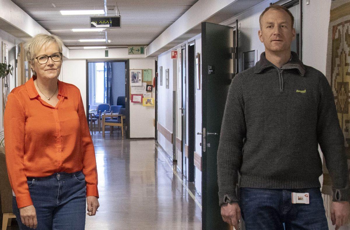 Kvalitetsrådgiver Berit Mæhlum og prosjektleder Hans Andreas Aamodt har lært mye av hverandre gjennom prosessen. Sistnevnte hospiterte også en halv dag på sykehjemmet for å sette seg inn utfordringer og behov.
