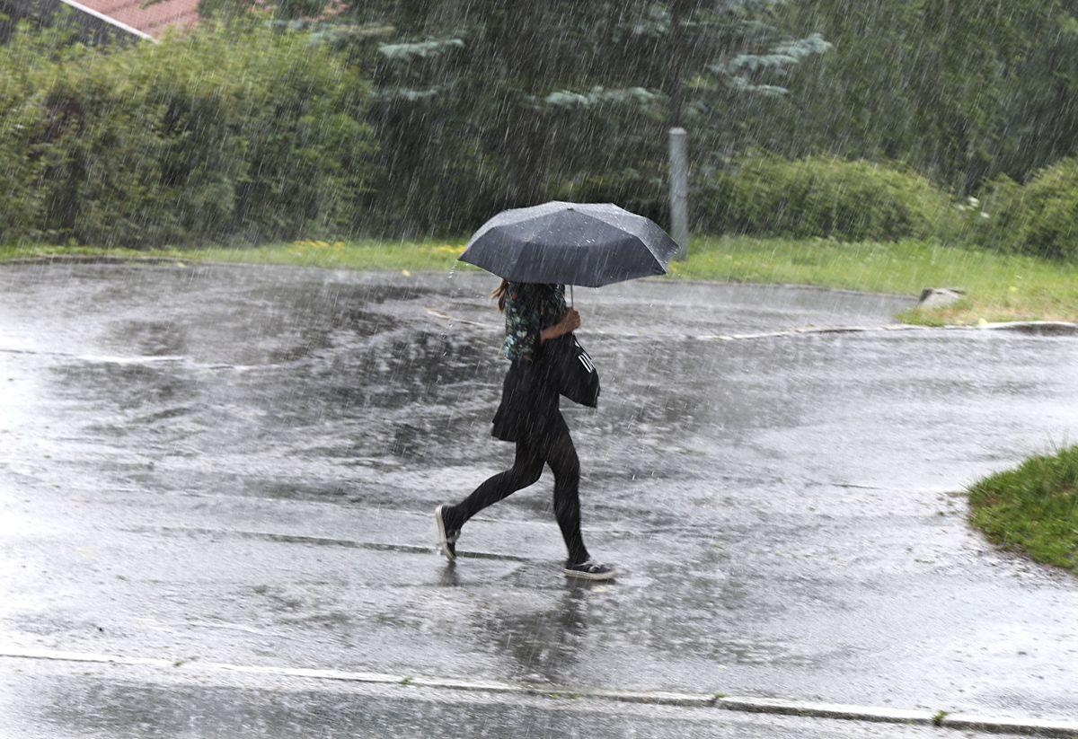 Det ble satt ny norgesrekord i nedbørsintensitet torsdag.