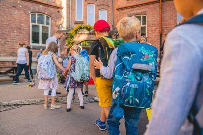 Skolestart Oslo 20200817. Elever på Lakkegata skole i Oslo på første skoledag. Foto: Stian Lysberg Solum / NTB